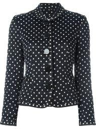 стеганый пиджак с узором в горох Christian Dior Vintage