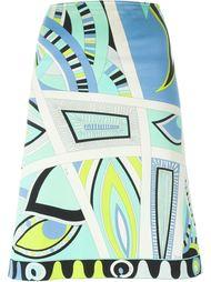 юбка А-силуэта с абстрактным принтом Emilio Pucci Vintage