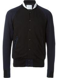 куртка-бомбер с контрастными рукавами Sacai