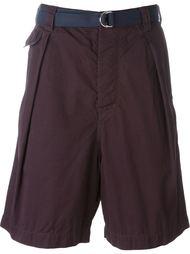 шорты с ремнем Sacai