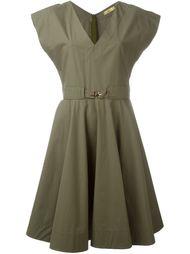 платье c V-образным вырезом   Fay