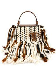плетеная сумка с бахромой Emilio Pucci
