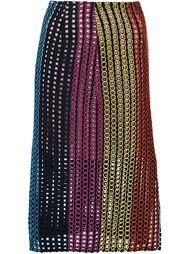 юбка с вышивкой Marco De Vincenzo