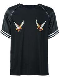футболка с вышивкой в виде орлов Christian Dada