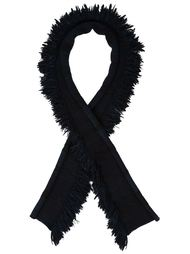fringed long scarf Baja East