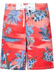 palm print swim shorts Dsquared2 Beachwear