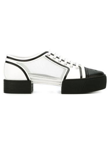 прозрачные туфли со шнуровкой Chanel Vintage