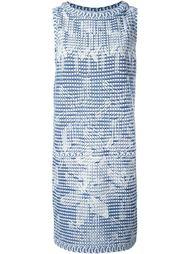 трикотажное платье с геометрическим принтом Chanel Vintage