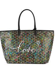 сумка-тоут с принтом 'love' Goyard Vintage