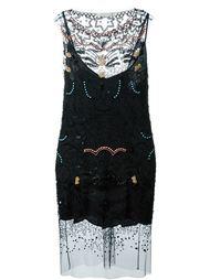 платье с прозрачными панелями Amen