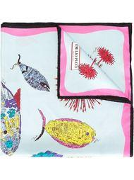 платок с принтом рыб Emilio Pucci