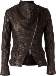 байкерская куртка с эффектом змеиной кожи  Giorgio Brato