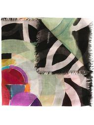 платок с геометрическим принтом Chanel Vintage