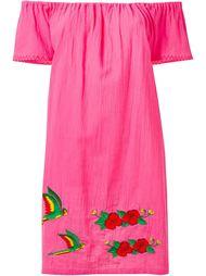 платье с открытыми плечами и вышивкой Sensi Studio