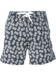 pineapple print swim shorts Woolrich