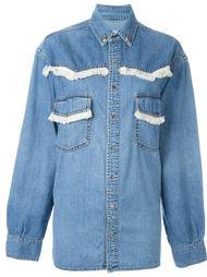 джинсовая рубашка с бахромой  Forte Couture