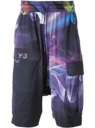 neon printed bermuda shorts Y-3