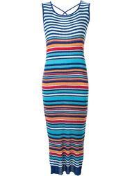полосатое длинное платье  Loveless