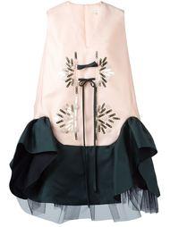 декорированное платье с расклешенным подолом Delpozo