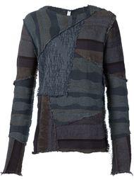 трикотажный лоскутный свитер Damir Doma
