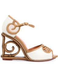rattan wedge sandals Charlotte Olympia