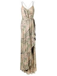 long printed party dress Emannuelle Junqueira