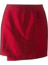 асимметричная мини-юбка с запахом Gigli Vintage