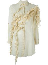 удлиненная рубашка с рюшами Marques'almeida