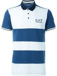 футболка-поло в полоску  Ea7 Emporio Armani
