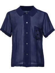 short sleeved sheer shirt Comme Des Garçons Comme Des Garçons