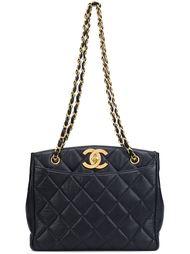 средняя стеганая сумка-тоут  Chanel Vintage