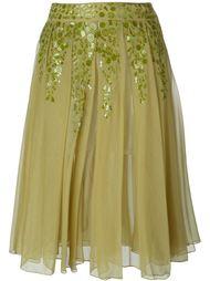 декорированная плиссированная юбка Romeo Gigli Vintage