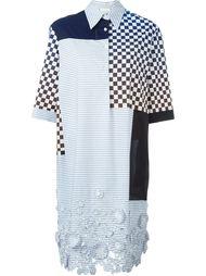 платье-рубашка лоскутного кроя Wunderkind