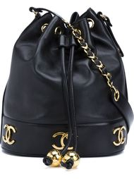 сумка-мешок с бляшкой с логотипом Chanel Vintage