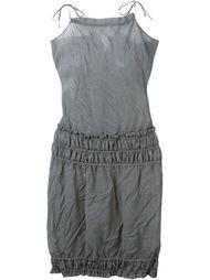 мини-платье с присборенной отделкой Romeo Gigli Vintage