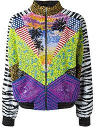куртка-бомбер с пайетками  Saint Laurent
