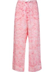 granite print straight leg trousers Dosa