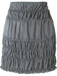 мини-юбка с присборенной отделкой Romeo Gigli Vintage