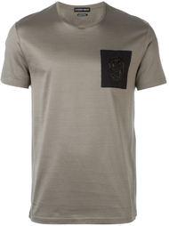 футболка с декорированной нашивкой Alexander McQueen