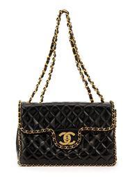стеганая сумка на плечо с цепочной лямкой Chanel Vintage