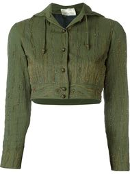 укороченная куртка с капюшоном Romeo Gigli Vintage