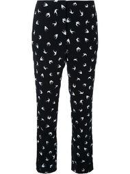 брюки-дудочки с принтом птиц Sonia Rykiel