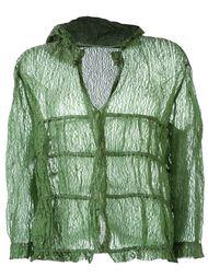 прозрачная куртка с капюшоном Romeo Gigli Vintage