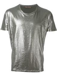 футболка с металлическим отблеском  Etro