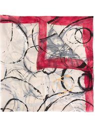 платок с абстрактным принтом Chanel Vintage
