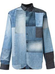 джинсовая рубашка с лоскутным узором Giuliano Fujiwara