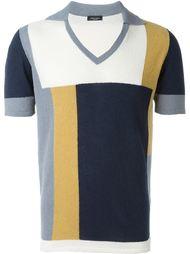 футболка-поло в стиле колор-блок  Roberto Collina