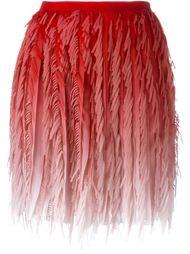 плиссированная юбка с бахромой  Marco De Vincenzo