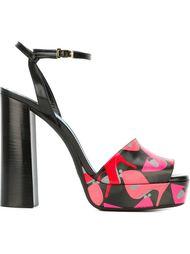 босоножки на платформе с принтом туфель Lanvin