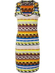 вязаное платье с геометрическим узором  Christopher Kane